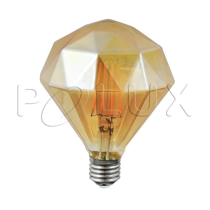żarówka Dekoracyjna Led Vintage Amber Diamond Z110 E27 450lm 4w 2700k Filamentż